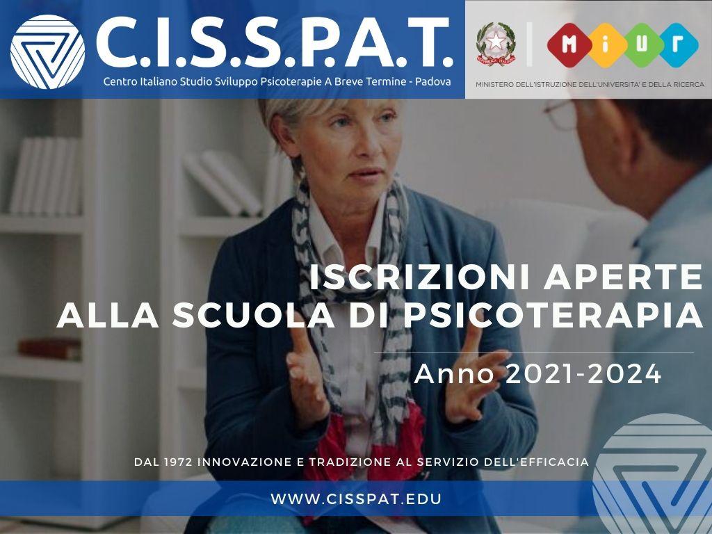 iscrizioni aperte cisspat scuola psicoterapia 2021 2022 2023 2024