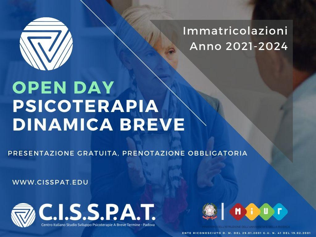 open day cisspat 2020 2021 2022 2023 2024 psicoterpia dinamica breve