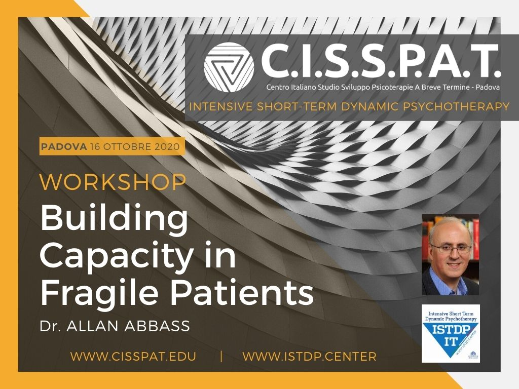 workshop on line _ psicoterapia Building Capacity in Fragile Patients ALLAN ABBAS CISSPAT